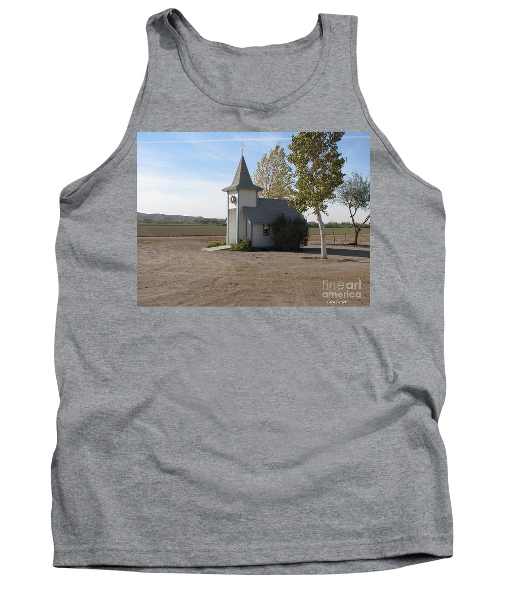 Patzer Tank Top featuring the photograph House Of The Lord by Greg Patzer