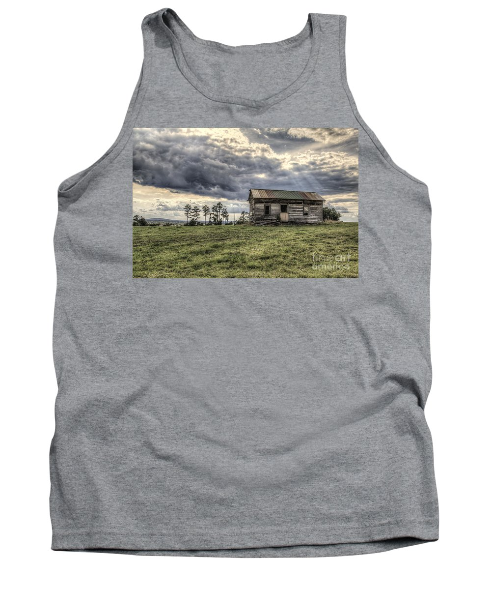2014 Tank Top featuring the photograph House On A Hill by Larry Braun