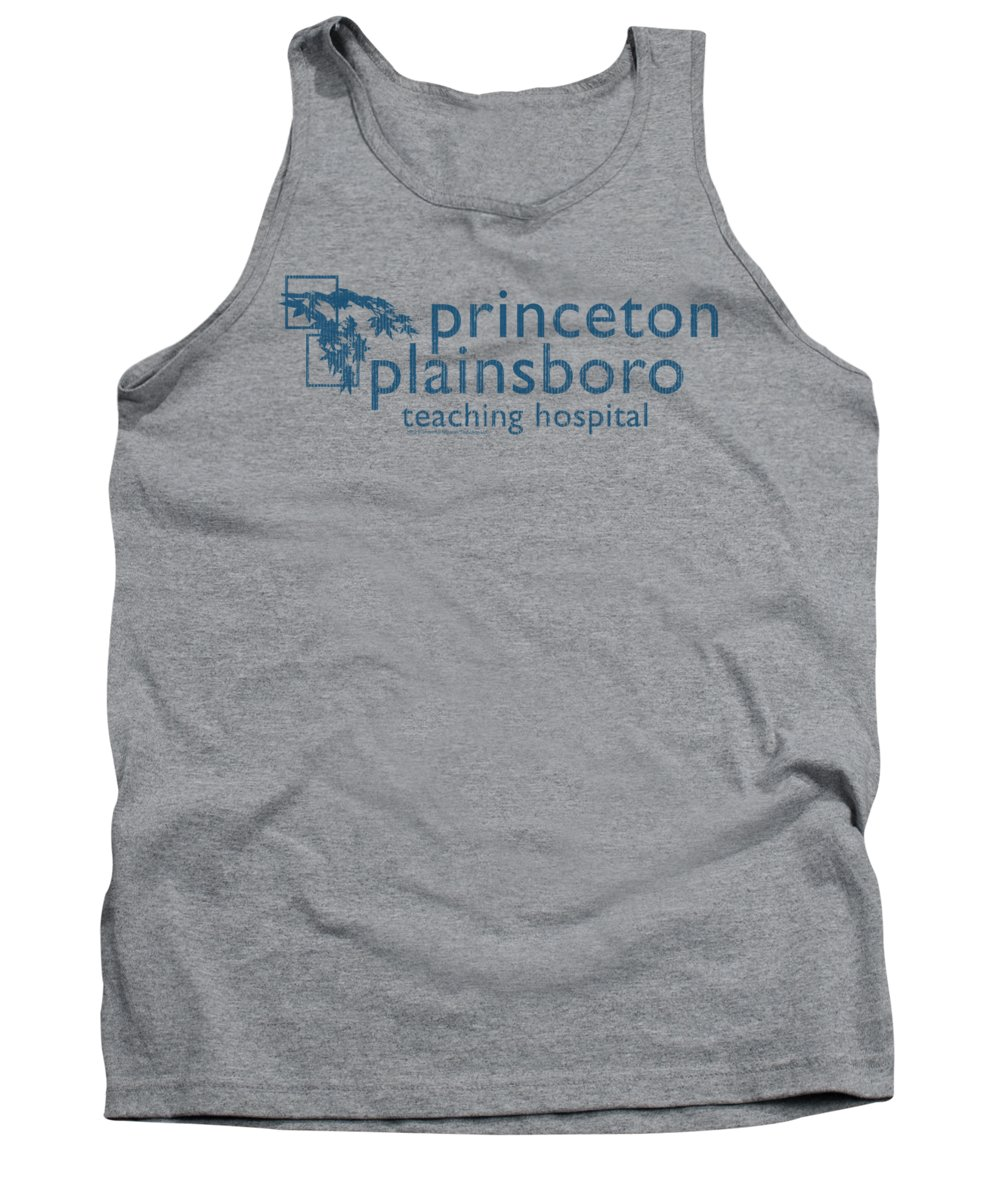 House Tank Top featuring the digital art House - Princeton Plainsboro by Brand A