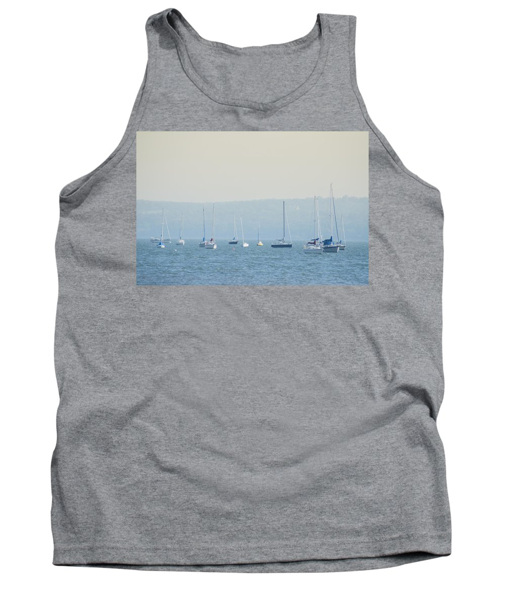 Hudson Tank Top featuring the photograph Hudson River Sailboats - Nyack New York by Bill Cannon