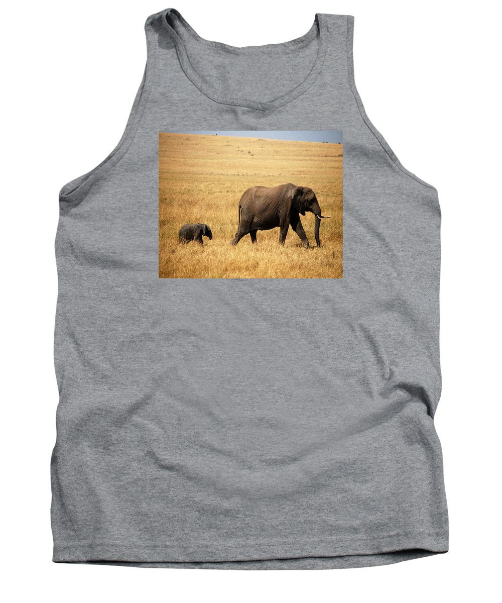 Animal Tank Top featuring the photograph Huge Expectaions by Pamela Peters