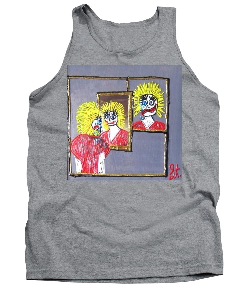 Mental Health Tank Top featuring the painting I Am Bipolar 2 by Lisa Piper