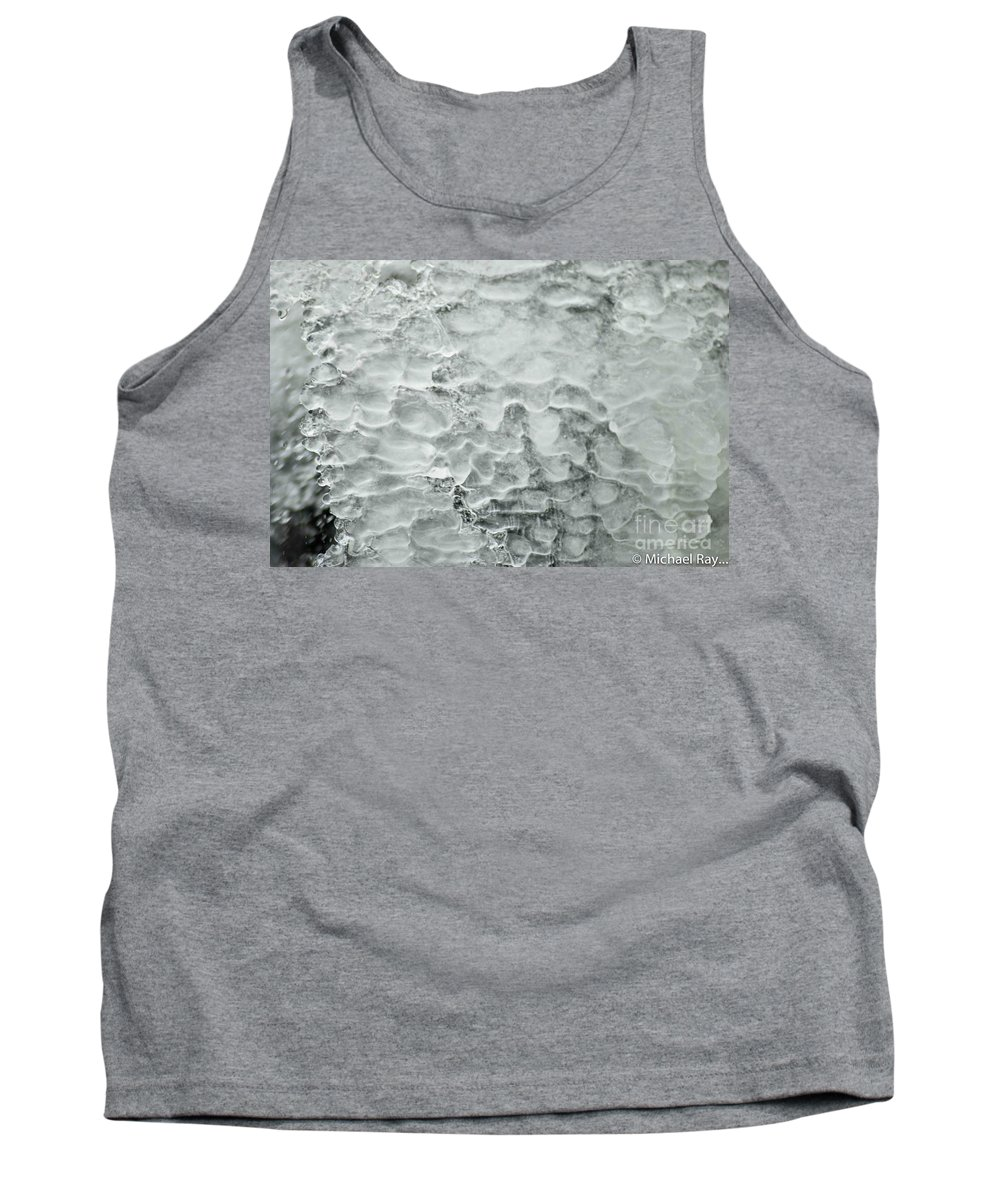 Ice Tank Top featuring the photograph Ice Formations by Optical Playground By MP Ray