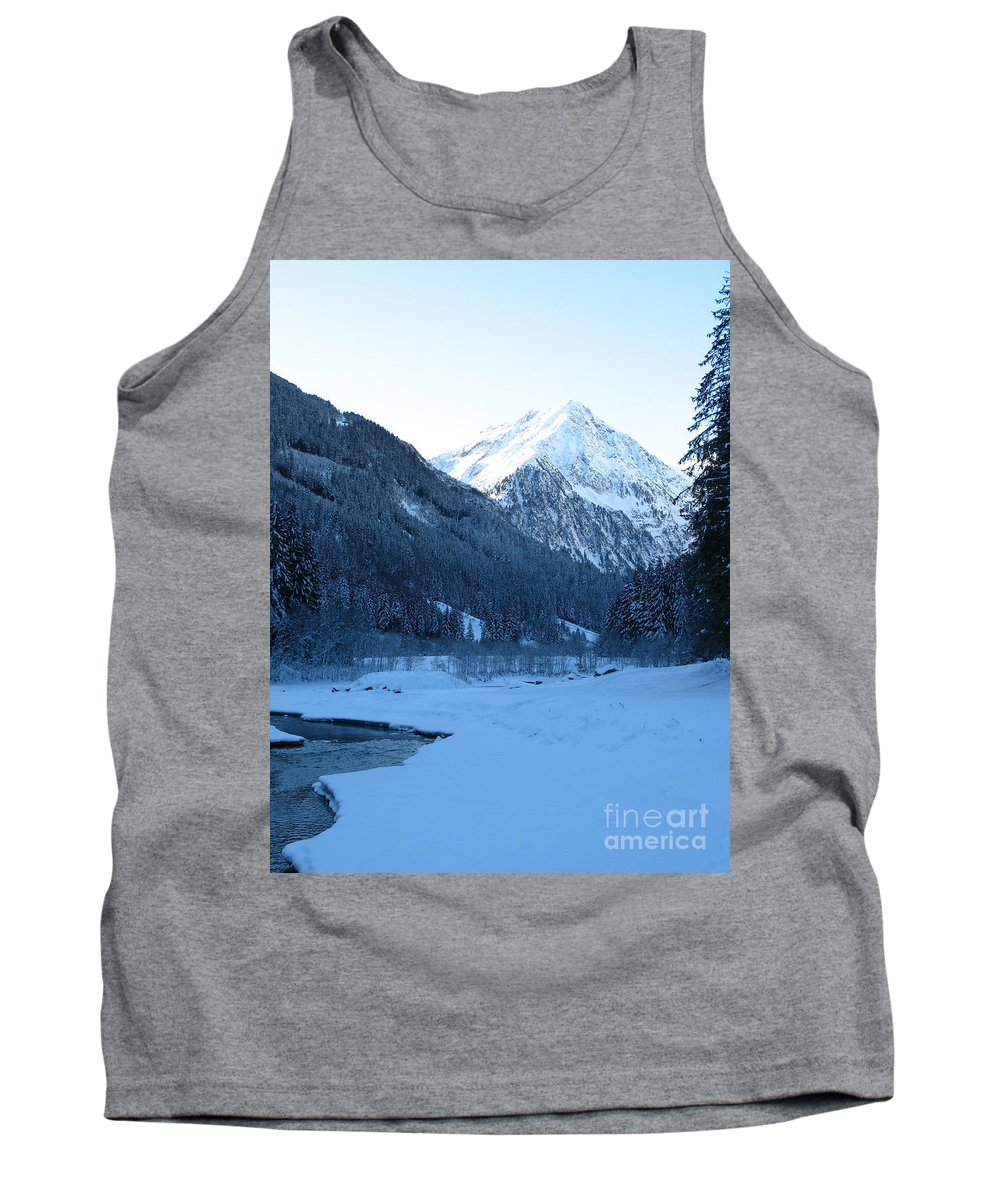 Snow Tank Top featuring the photograph Iceblue Snow by Christiane Schulze Art And Photography