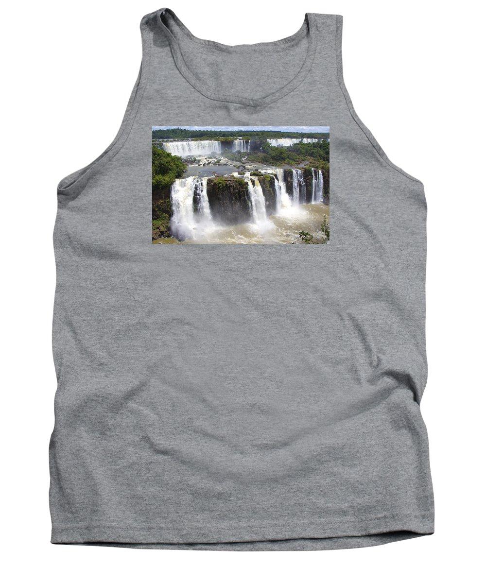 Waterfalls Tank Top featuring the photograph Iguacu Falls Brazilian Side by Venetia Featherstone-Witty
