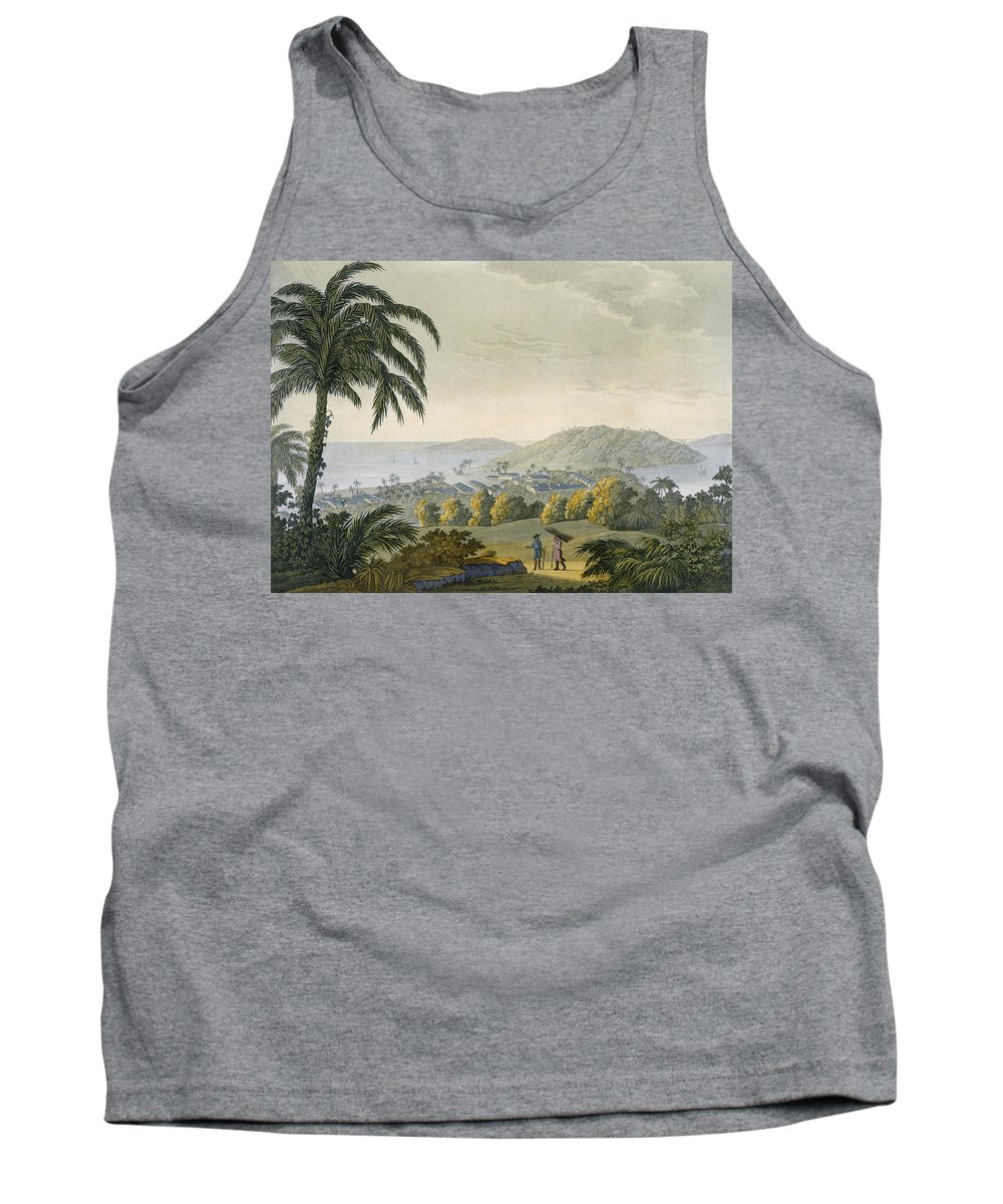 View Tank Top featuring the drawing Ilheus by Paolo Fumagalli