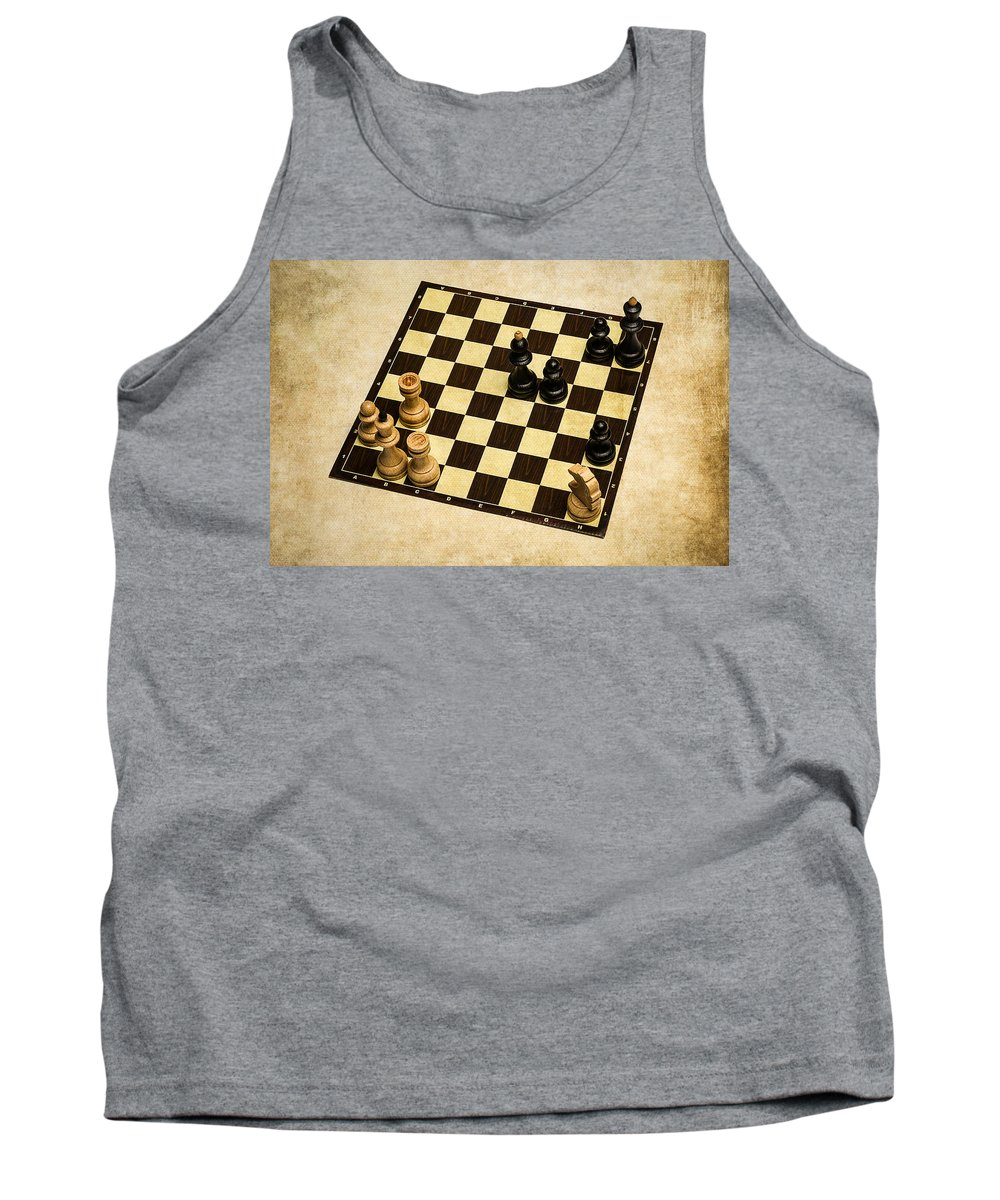 Chess Tank Top featuring the photograph Immortal Chess - Anand Vs Topalov 2005 by Alexander Senin