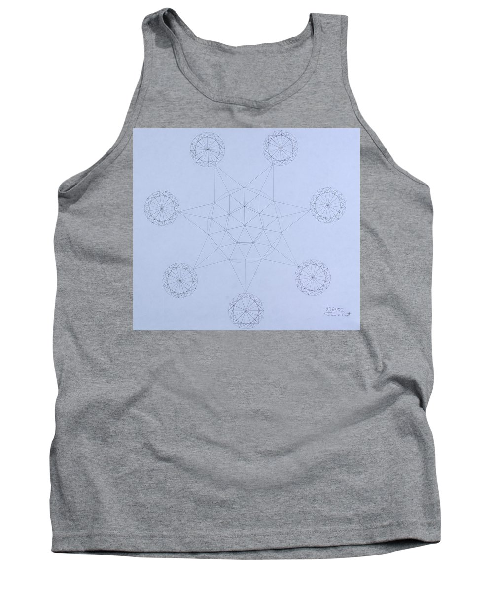 Jason Padgett Tank Top featuring the drawing Impossible Parallels by Jason Padgett