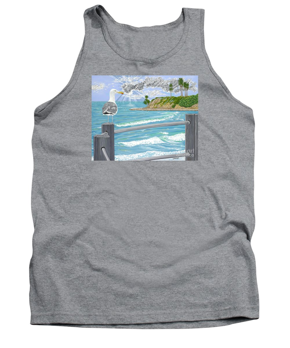 Sea Gull Tank Top featuring the painting Intensity by John Wilson