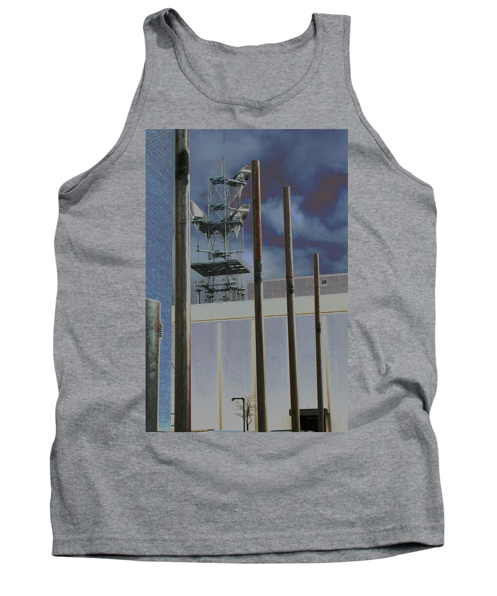Industrial Tank Top featuring the photograph Invisible Industry by Ric Bascobert