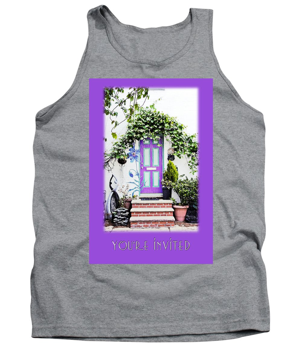 Greeting Tank Top featuring the photograph Invitation Greeting Card - Street Garden by Mother Nature