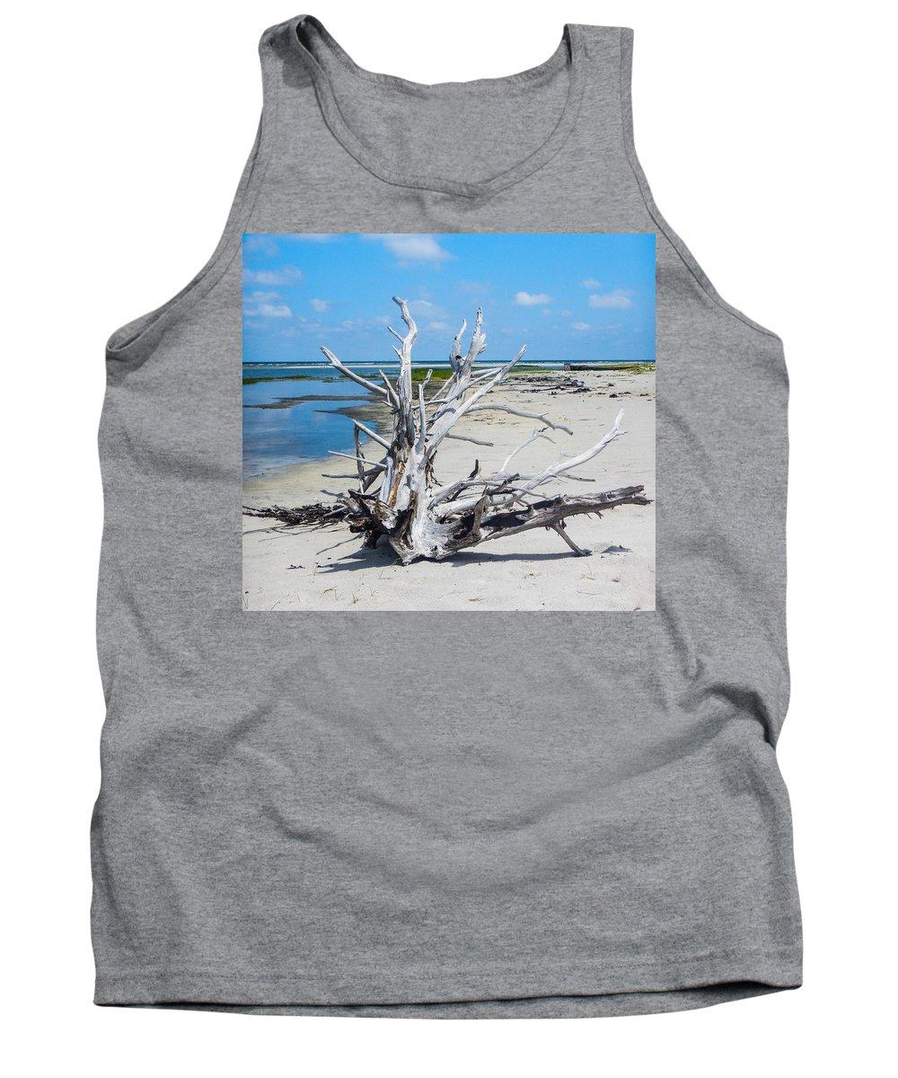 Cedar Island Tank Top featuring the photograph Island Tree by Paula OMalley