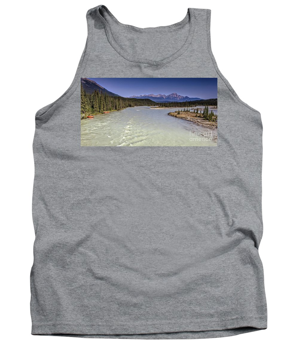 Jasper Tank Top featuring the photograph Islands On The River In Jasper by Viktor Birkus