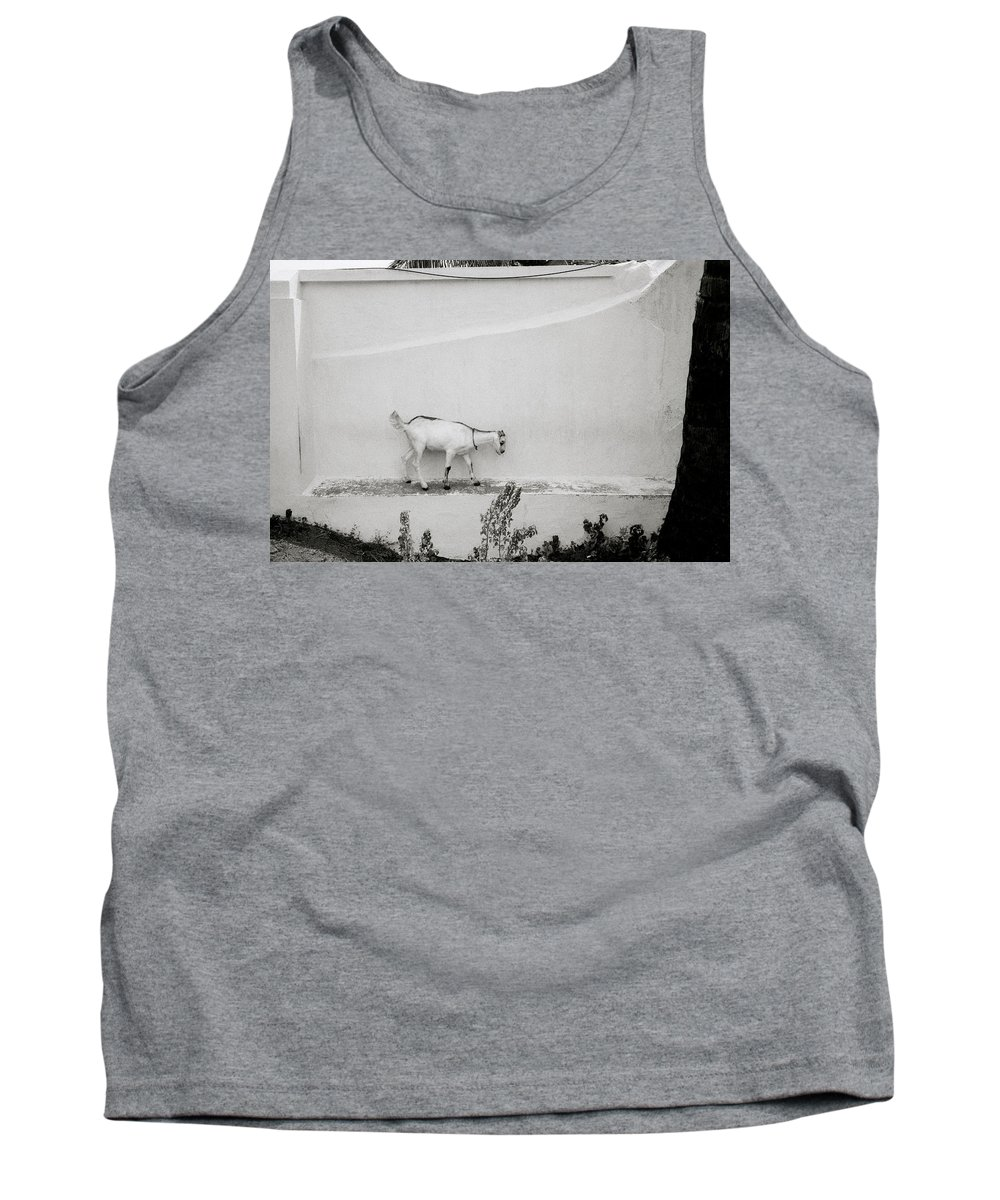 Solitude Tank Top featuring the photograph The Surreal Goat by Shaun Higson