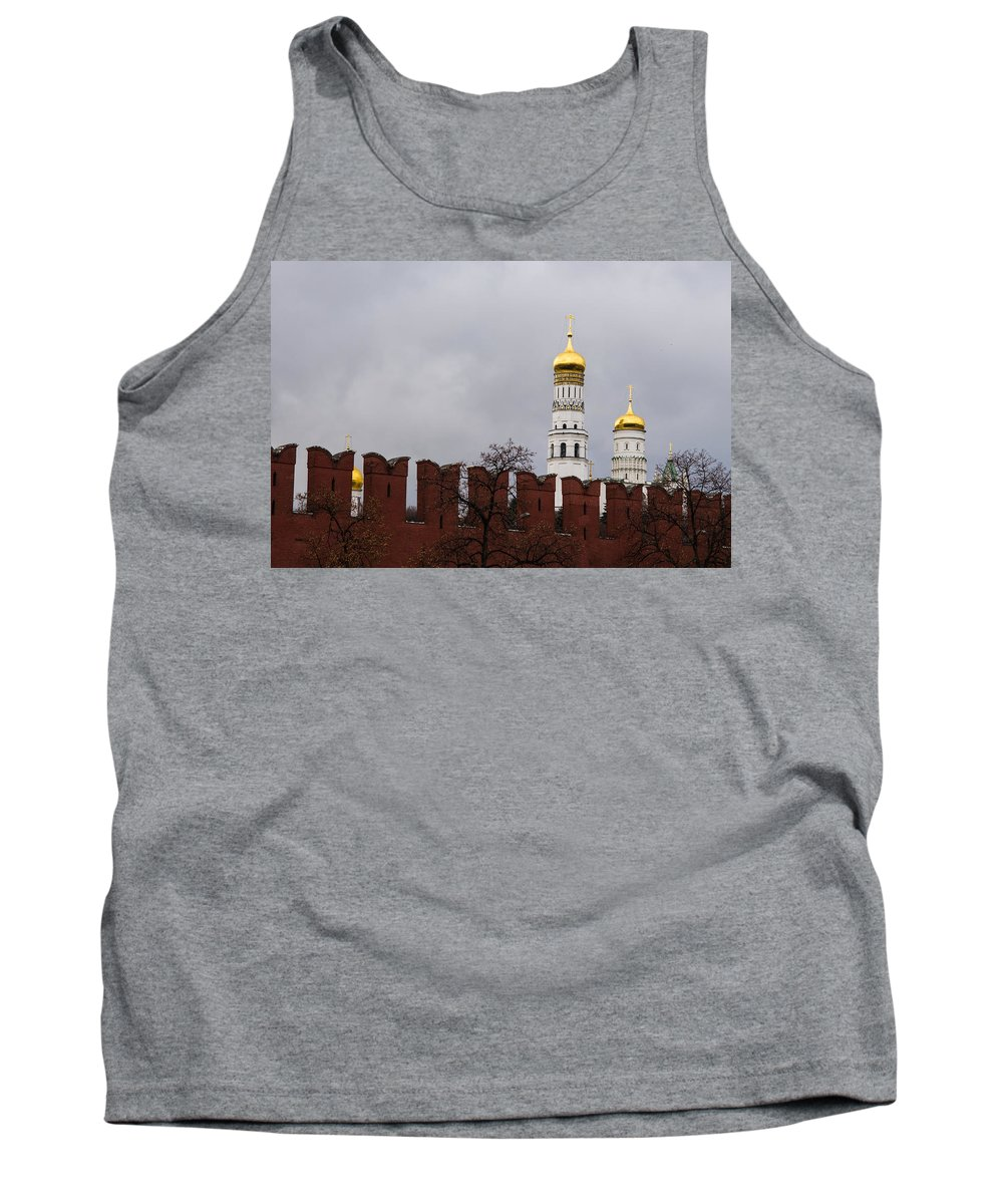 Architecture Tank Top featuring the photograph Ivan The Great Belfry Of Moscow Kremlin by Alexander Senin