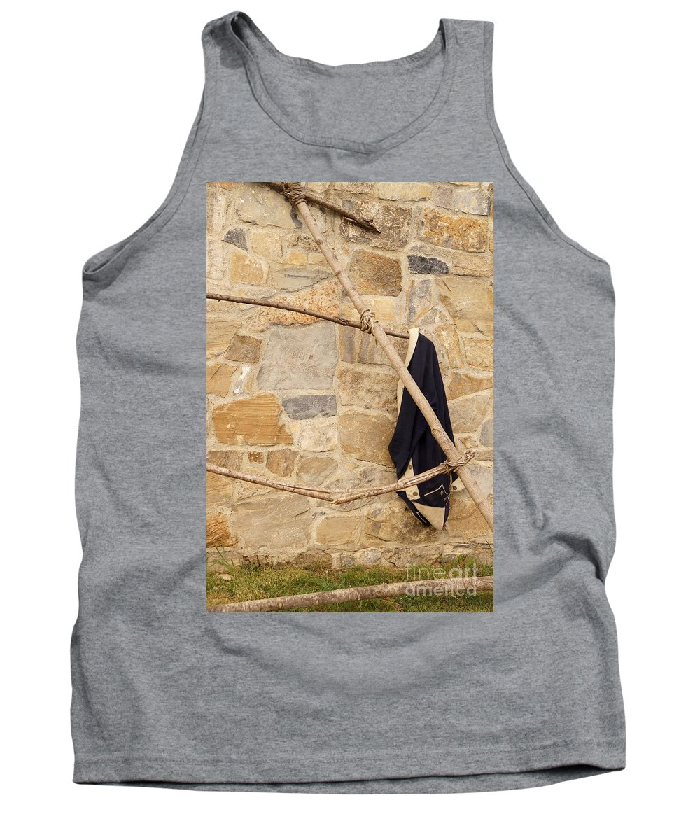 Fort Ticonderoga Tank Top featuring the photograph Jacket Hanging by Kerri Mortenson