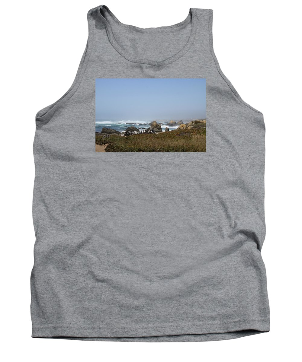 Mendicino Coast Tank Top featuring the photograph Jagged California Coastline by Christiane Schulze Art And Photography
