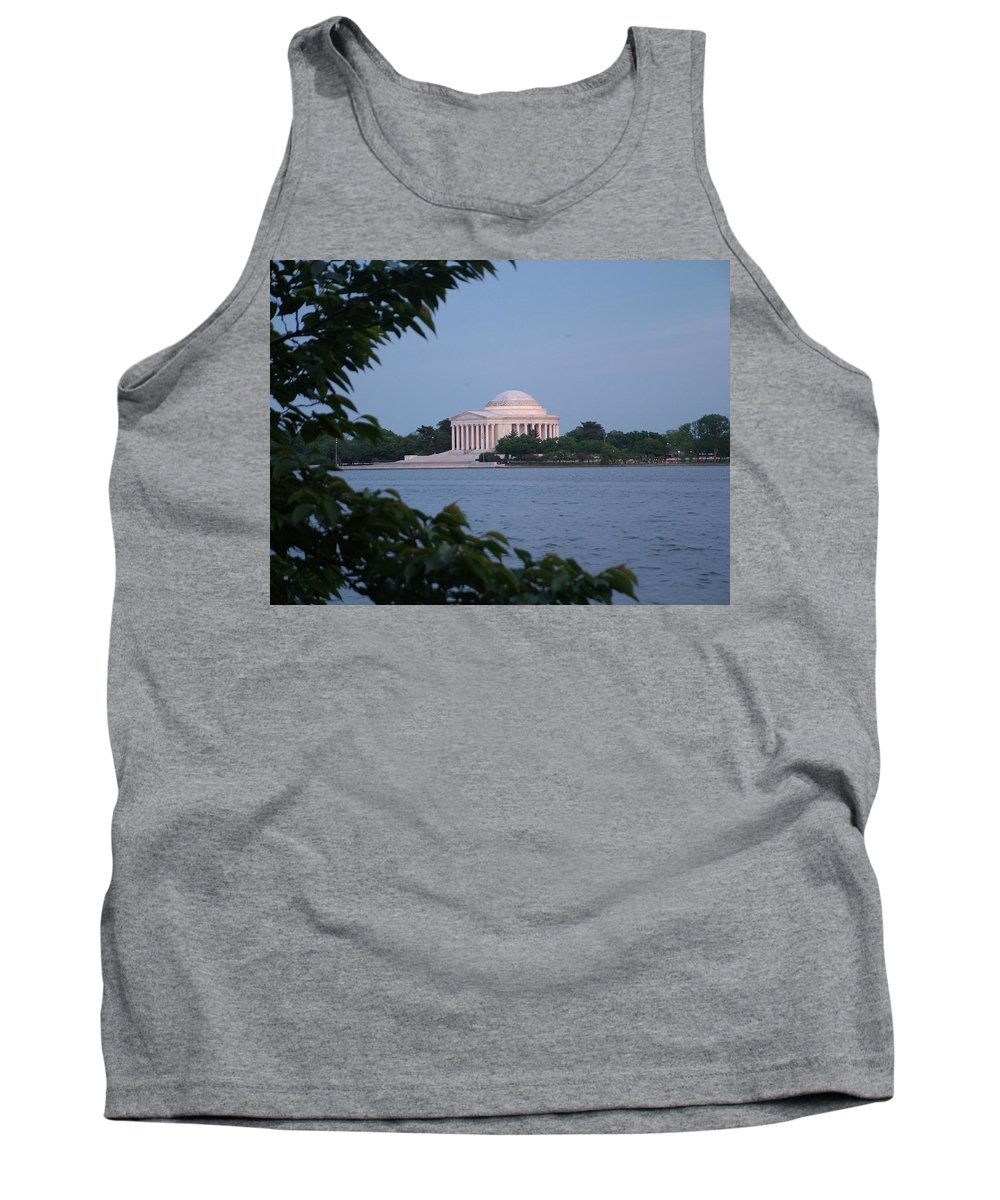 Jefferson Tank Top featuring the photograph Jefferson Memorial by Geoffrey McLean