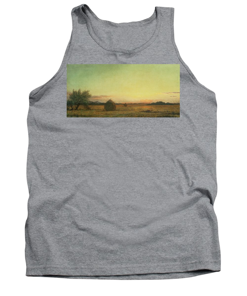 Landscape Tank Top featuring the painting Jersey Meadows by Martin Johnson Heade