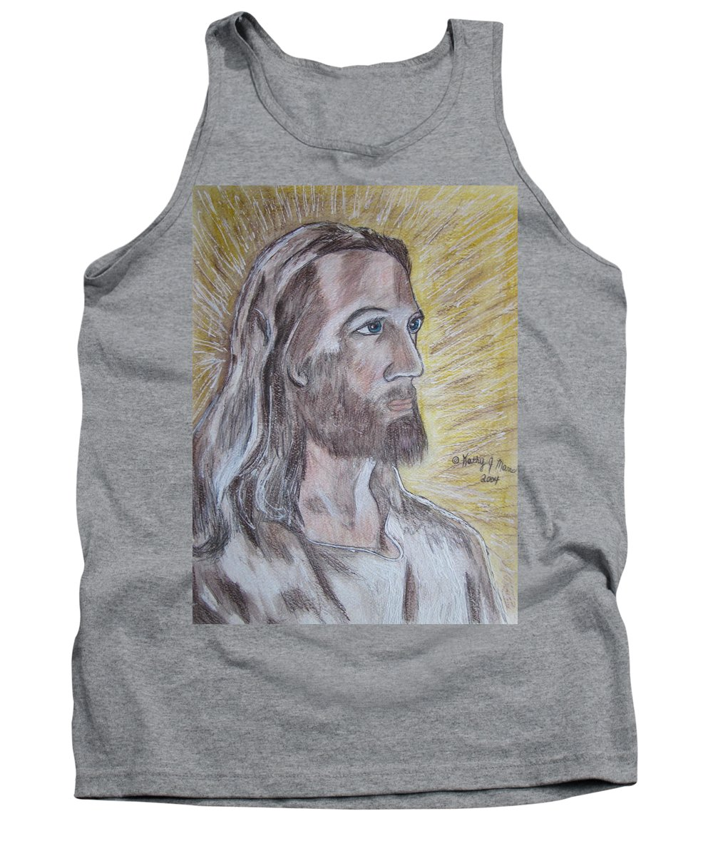 Jesus Tank Top featuring the painting Jesus by Kathy Marrs Chandler