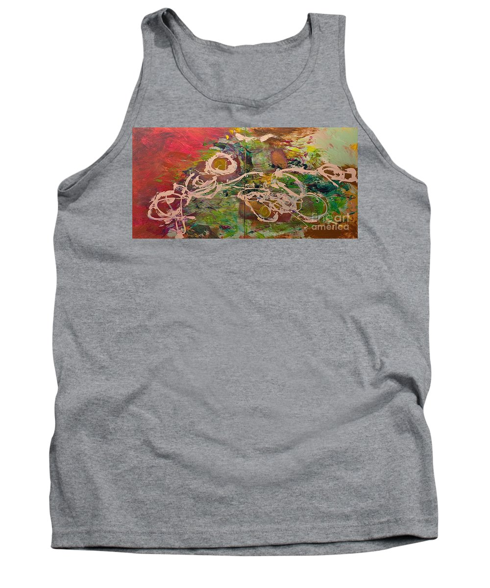 Landscape Tank Top featuring the painting Journey Forth by Allan P Friedlander