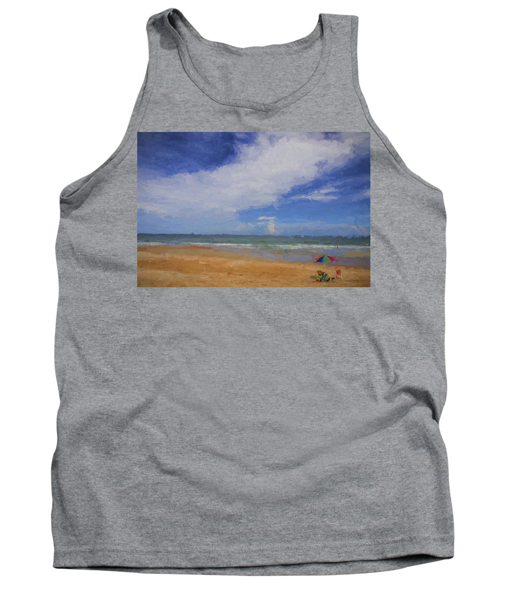 Beach Tank Top featuring the photograph Just A Day by Alice Gipson