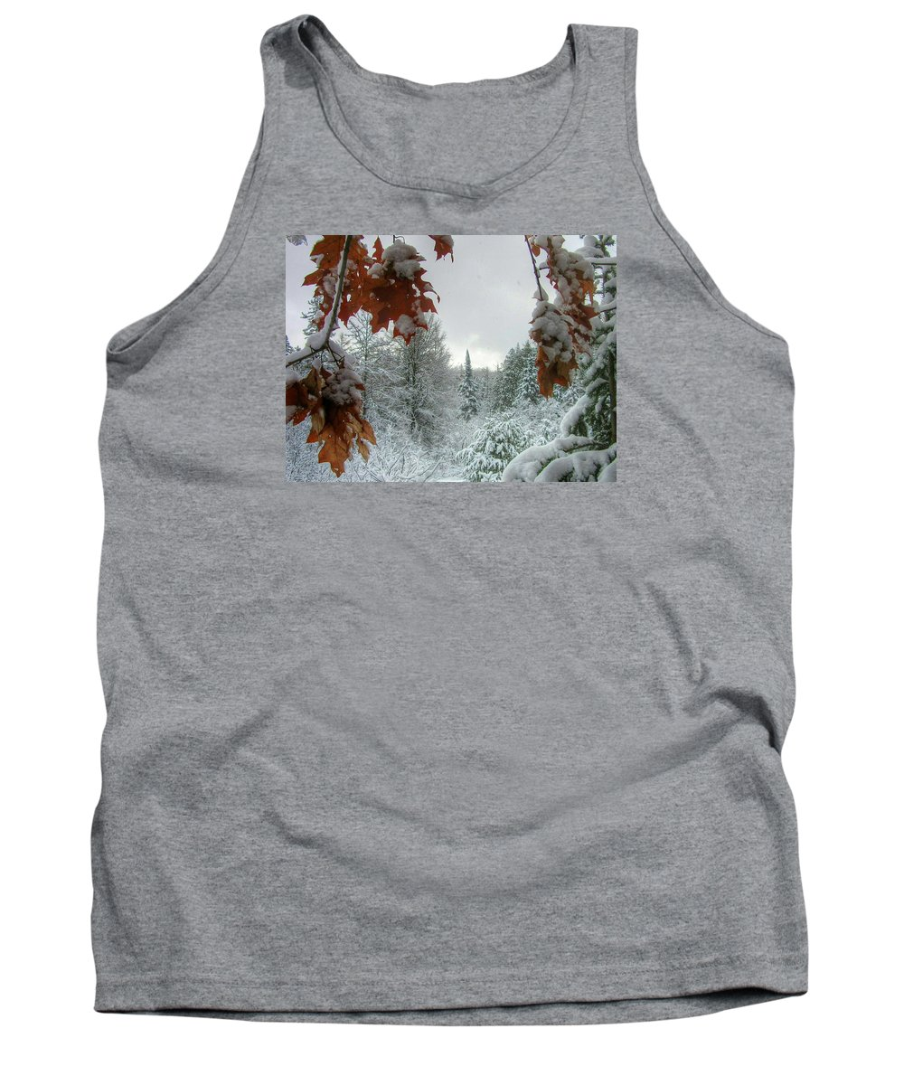 Keweenaw Tank Top featuring the photograph Keweenaw Silence by Scott Wendt Tom Wierciak