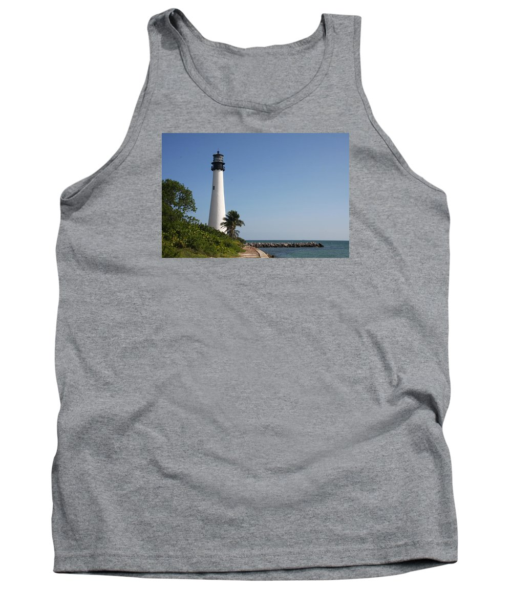Ligthouse Tank Top featuring the photograph Key Biscayne Lighthouse by Christiane Schulze Art And Photography