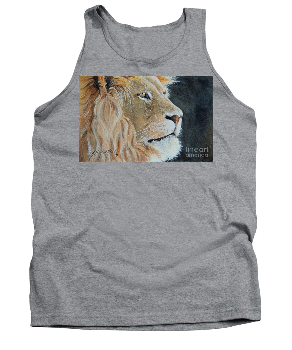 Watercolor Tank Top featuring the painting King Of The Forest. Sold by Sandy Brindle