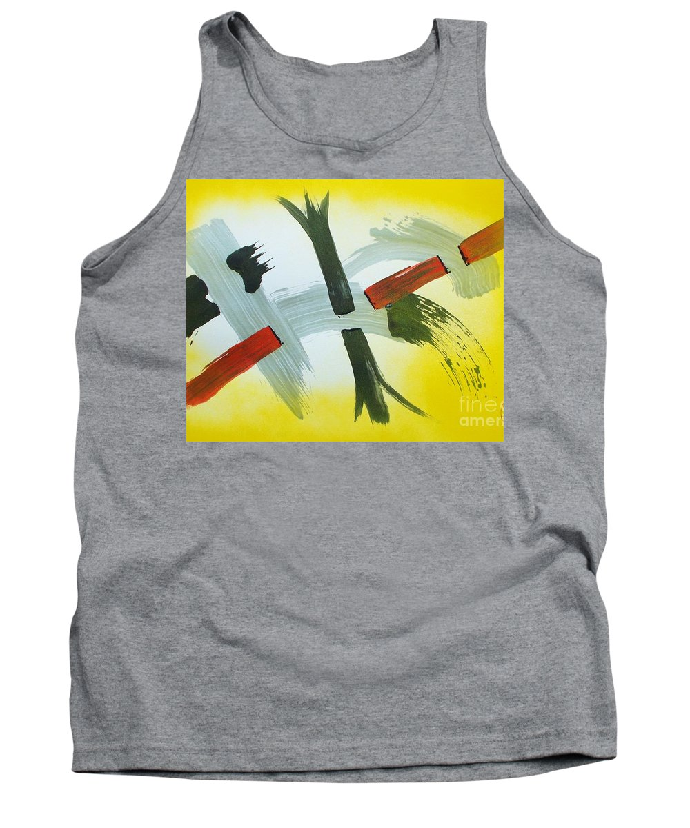 Original On Acid Free Paper:  Sumi-e Tank Top featuring the painting Kokan by Roberto Prusso