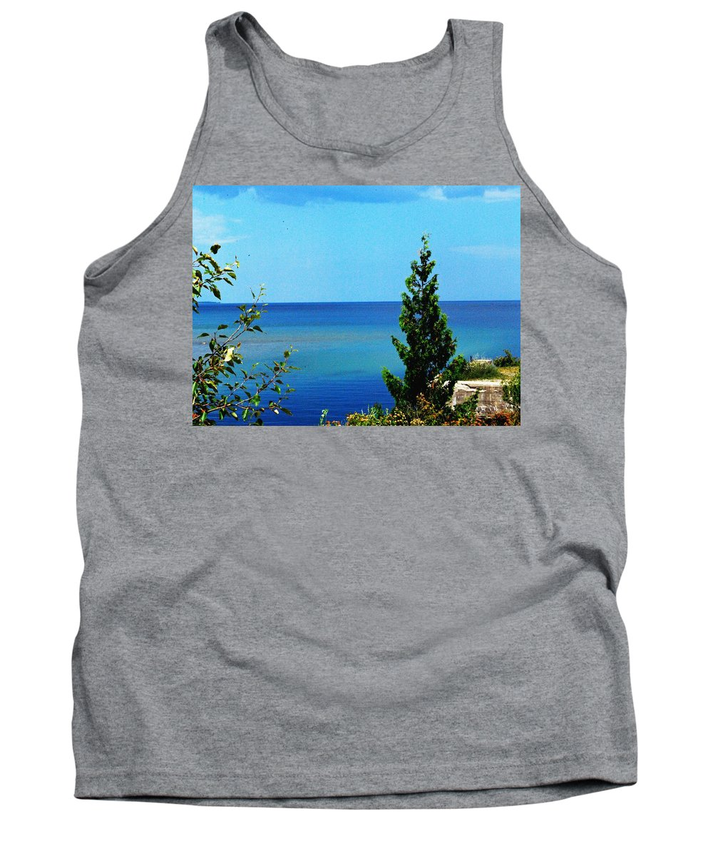 Pine Tank Top featuring the photograph Lake Huron by Gary Wonning