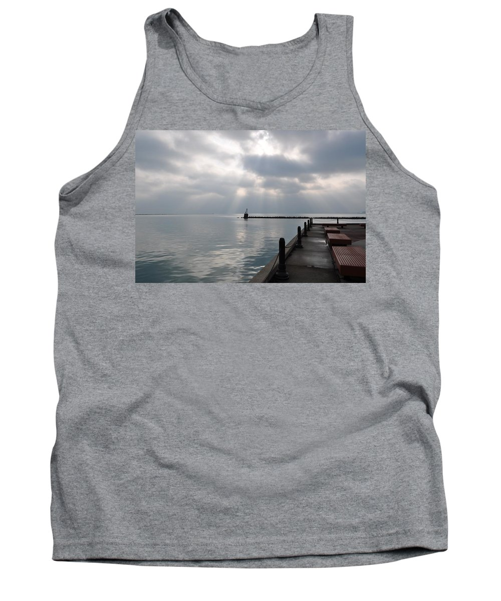 Calm Tank Top featuring the photograph Lake Michigan At Rest by Thomas Shockey