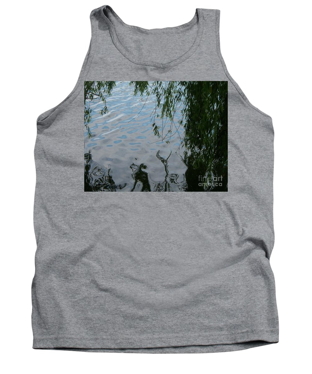 Lake Tank Top featuring the photograph Lake Reflections Of Blue by Eric Schiabor
