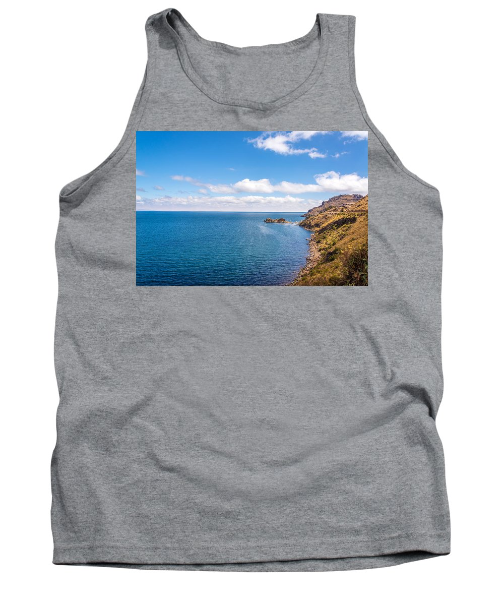 Titicaca Tank Top featuring the photograph Lake Titicaca Coastline by Jess Kraft