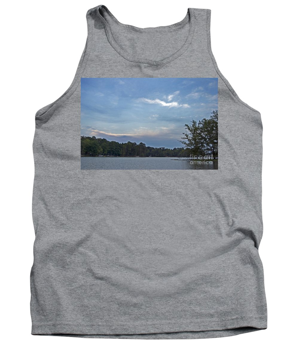 Scenic Tours Tank Top featuring the photograph Lake Tranquility by Skip Willits