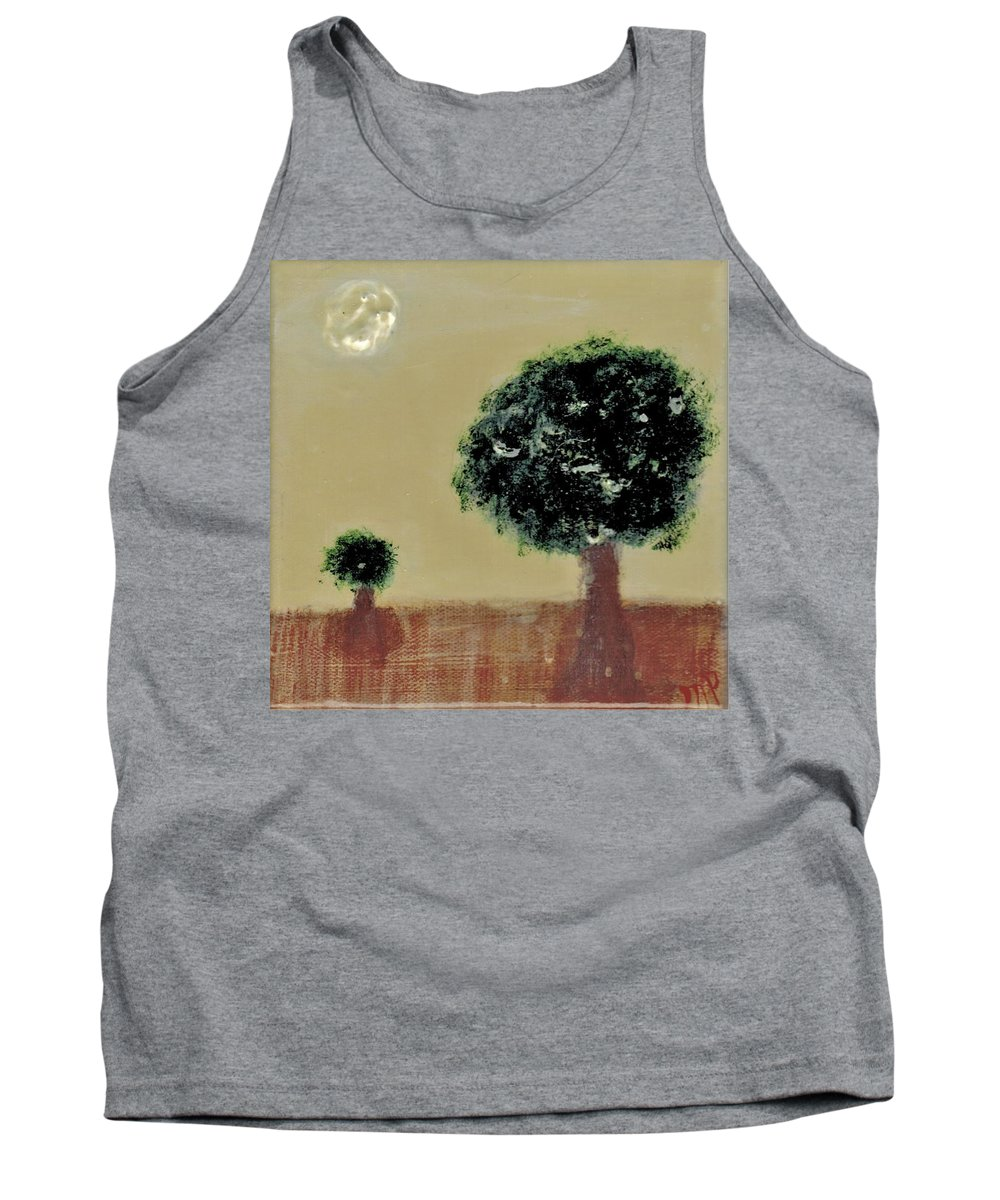Trees Tank Top featuring the painting Landscape 14-006 by Mario MJ Perron