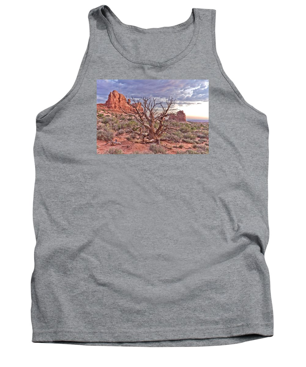 Tree Tank Top featuring the photograph Landscape by Na Johnson