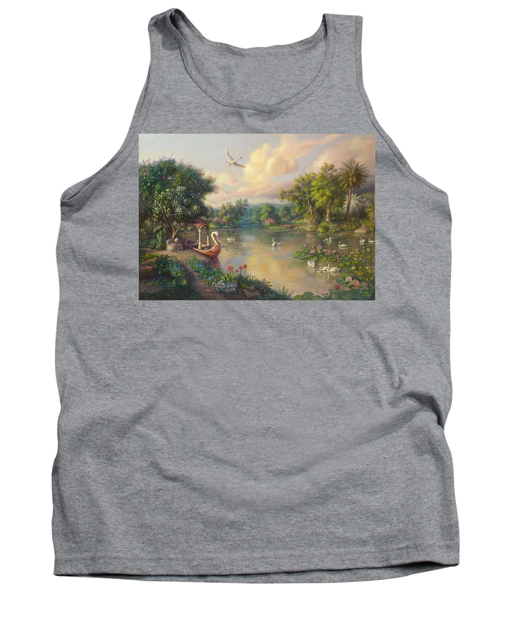 .landscape Tank Top featuring the painting Landscape by Satchitananda das Saccidananda das