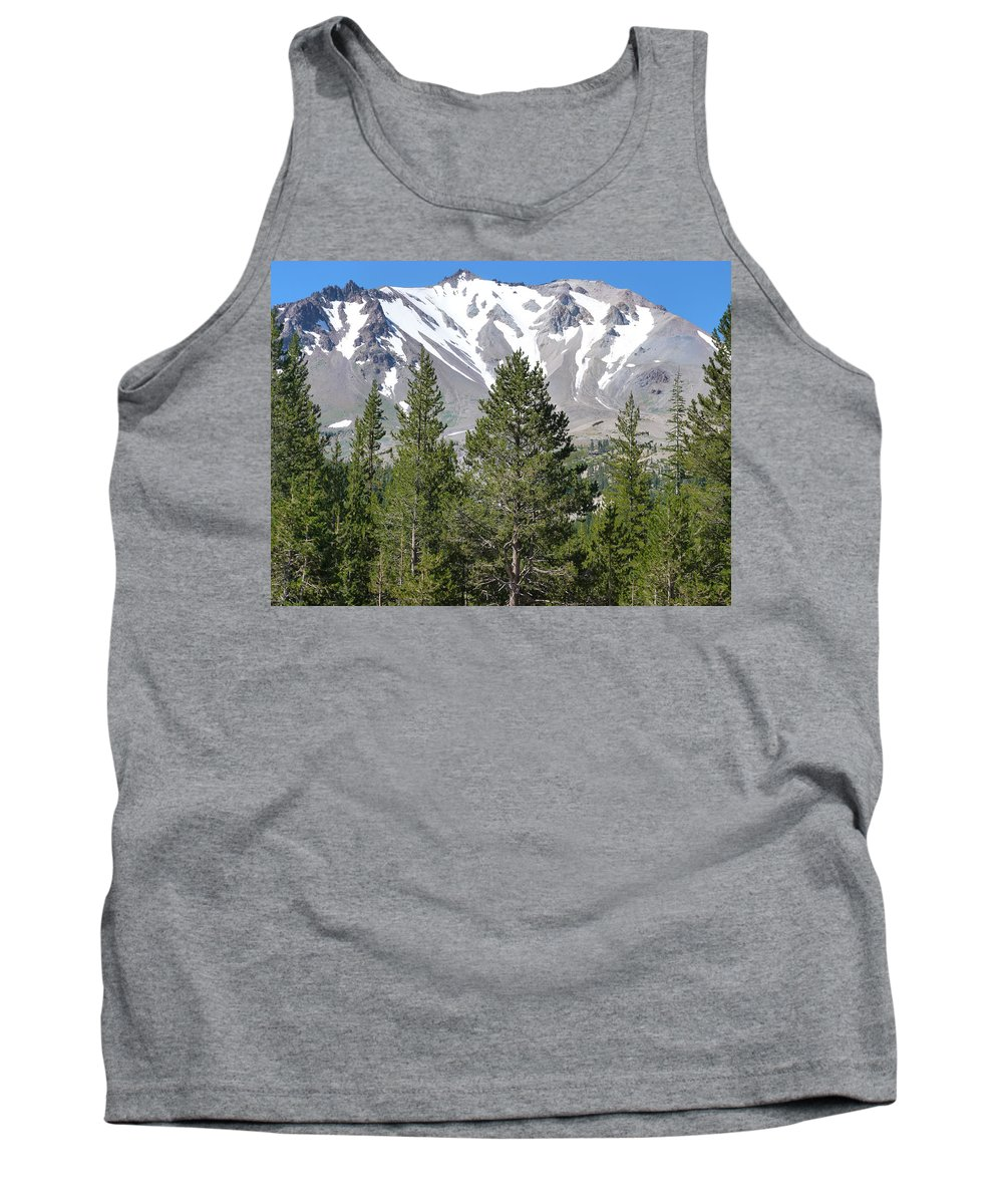 Mountain Tank Top featuring the photograph Lasson Peak 2 by Susan Porter