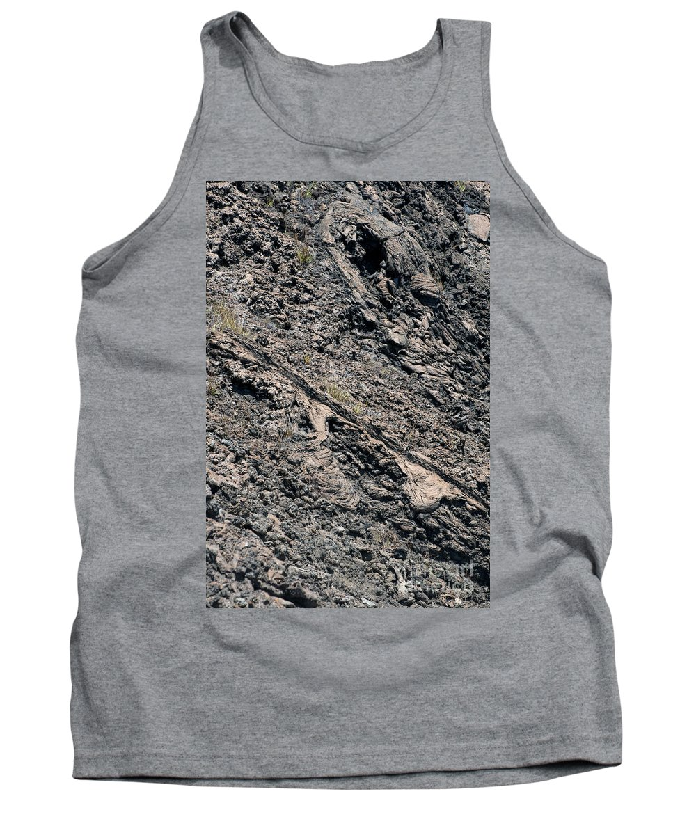 Bartolome Island Galapagos Islands Ecuador Lava Rock Rocks Abstract Odds And Ends Texture Textures Tank Top featuring the photograph Lava Textures by Bob Phillips