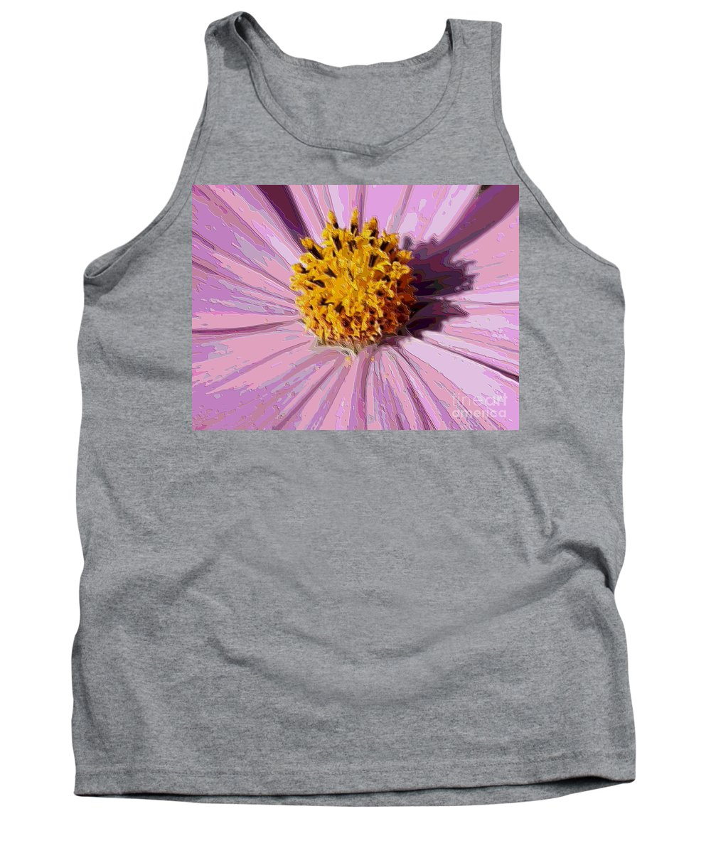 Pink Cosmos Tank Top featuring the photograph Layers Of A Cosmos Flower by Carol Groenen