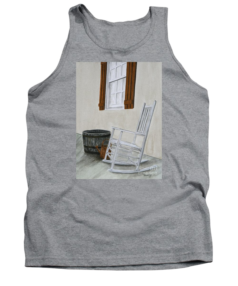 Americana Tank Top featuring the painting Lazy Day by Regan J Smith