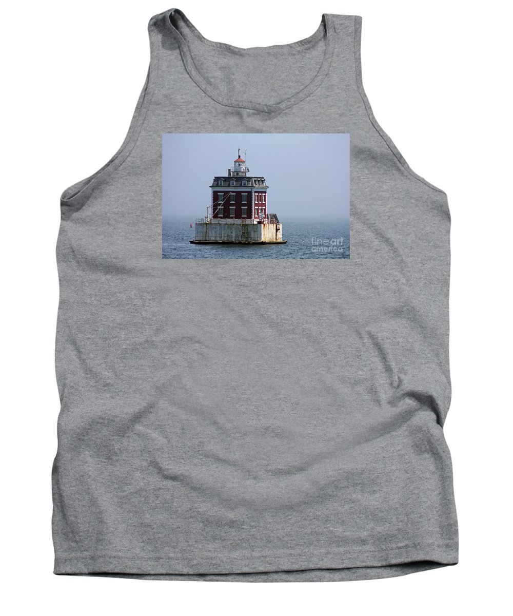 New London Ledge Lighthouse Tank Top featuring the photograph Ledge Light - Connecticut's House In The River by Christiane Schulze Art And Photography