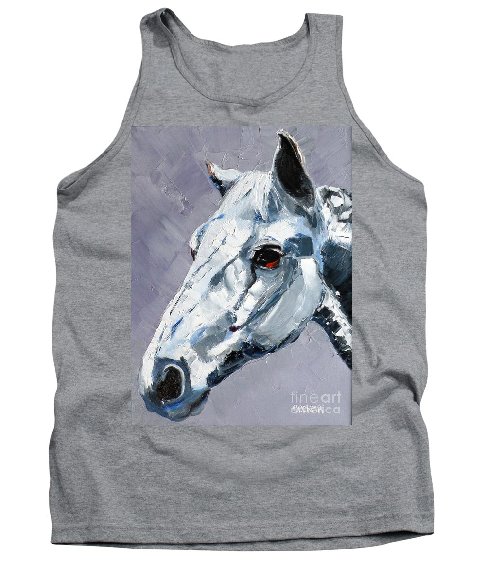 Horse Tank Top featuring the painting Legend - Sport Horse by Susan A Becker
