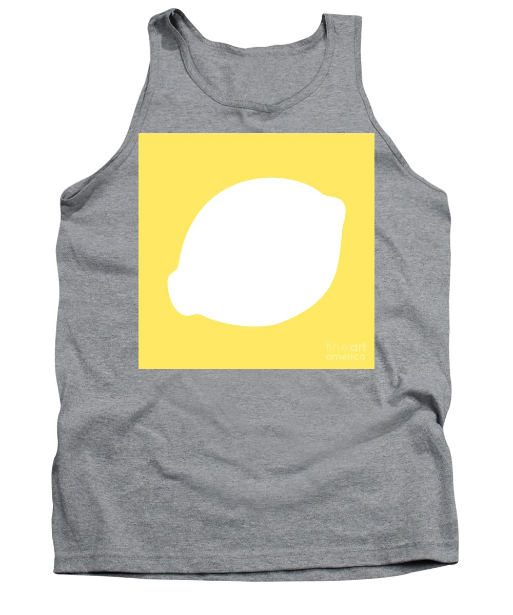 Lemon Tank Top featuring the digital art Lemon by Jackie Farnsworth