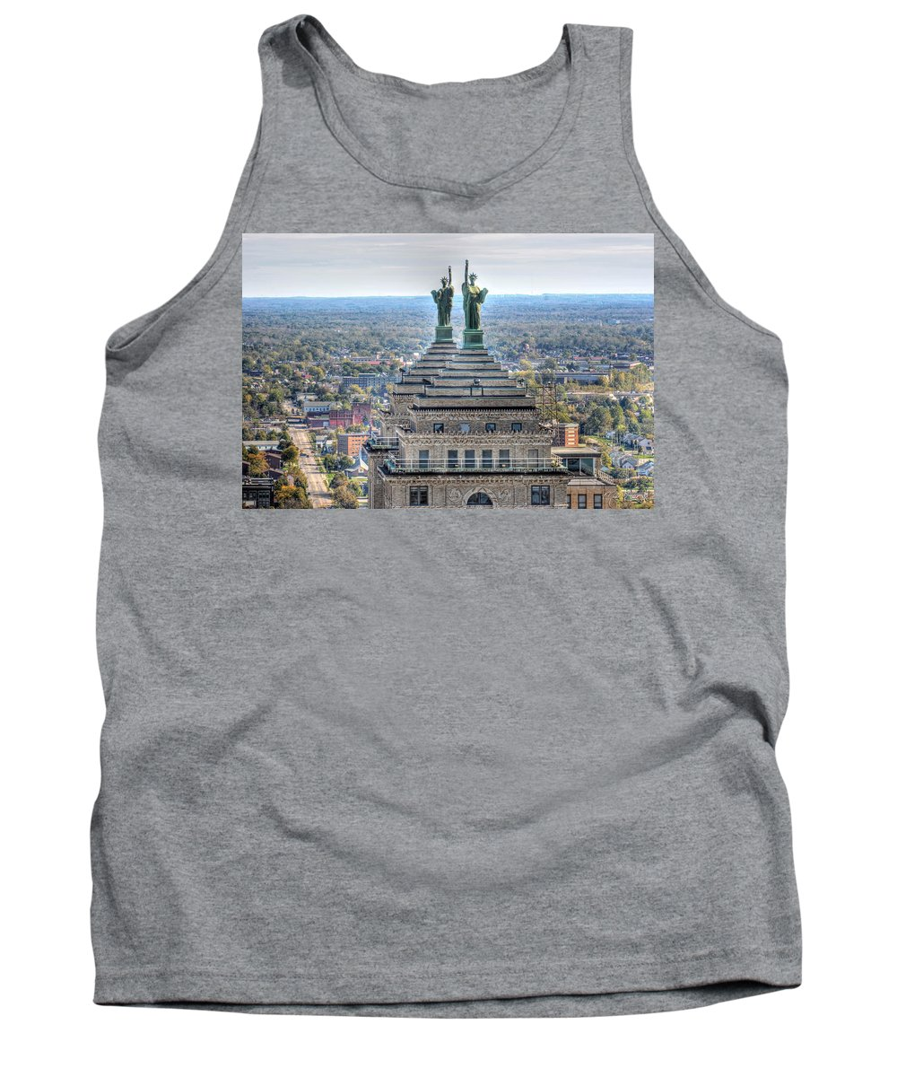 Liberty Building Tank Top featuring the photograph Liberty Building Autumn 2013 by Michael Frank Jr