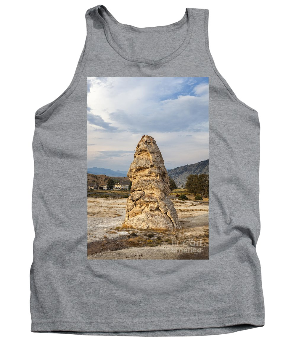 Yellowstone Tank Top featuring the photograph Liberty Cap In Yellowstone by Bryan Mullennix