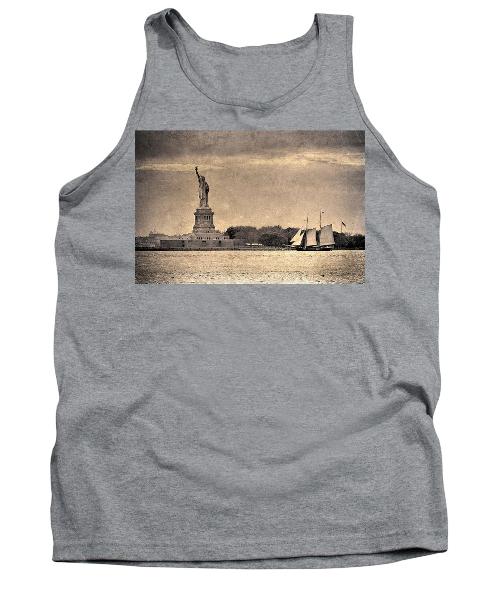 Statue Of Liberty Tank Top featuring the photograph Liberty Enlightening The World by Eric Ferrar