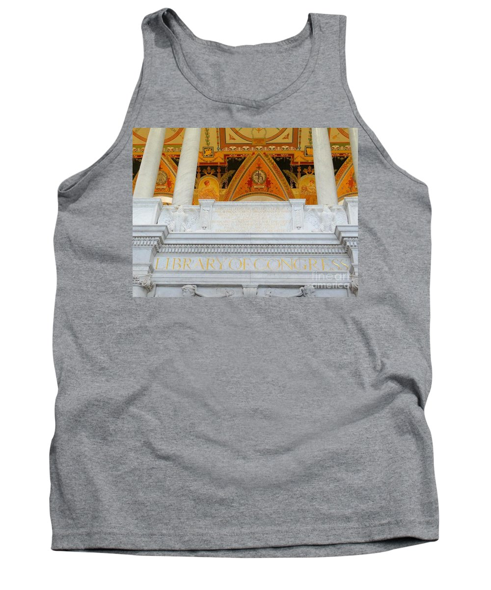 Library Of Congress Tank Top featuring the photograph Library Of Congress by Ed Weidman