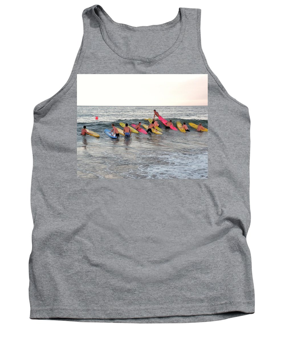 Lifeguard Competition Tank Top featuring the photograph Lifeguard Competition by Kim Bemis